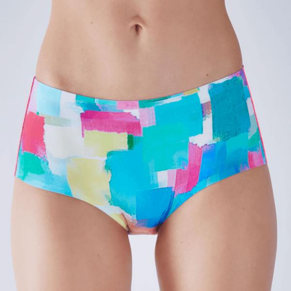 """Figi damskie bezszwowe kolorowe Classic Paloma Pink p 600x600 - Figi Maxi """"Think Happy"""" Paloma Pink"""